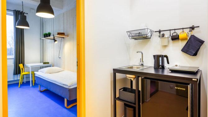 Hektor Hostel twin room with kitchenette I Tartu